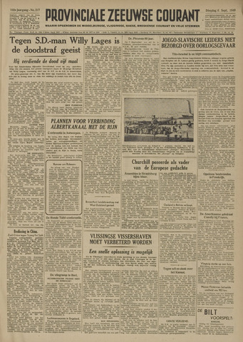 Provinciale Zeeuwse Courant 1949-09-06