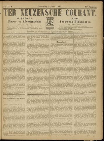 Ter Neuzensche Courant. Algemeen Nieuws- en Advertentieblad voor Zeeuwsch-Vlaanderen / Neuzensche Courant ... (idem) / (Algemeen) nieuws en advertentieblad voor Zeeuwsch-Vlaanderen 1896-03-05