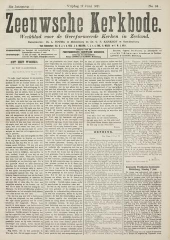 Zeeuwsche kerkbode, weekblad gewijd aan de belangen der gereformeerde kerken/ Zeeuwsch kerkblad 1921-06-17