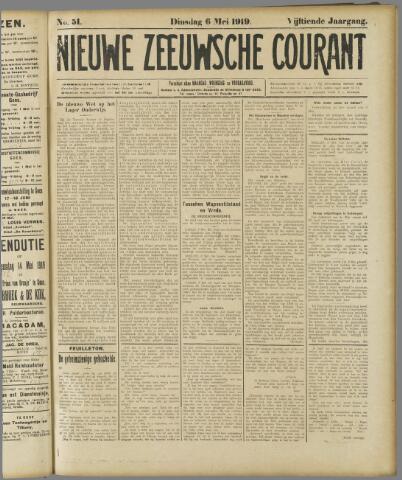 Nieuwe Zeeuwsche Courant 1919-05-06