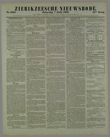 Zierikzeesche Nieuwsbode 1888-07-07