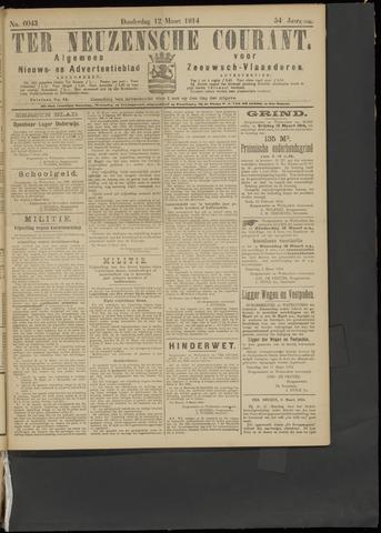 Ter Neuzensche Courant. Algemeen Nieuws- en Advertentieblad voor Zeeuwsch-Vlaanderen / Neuzensche Courant ... (idem) / (Algemeen) nieuws en advertentieblad voor Zeeuwsch-Vlaanderen 1914-03-12