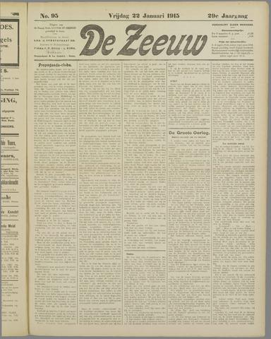 De Zeeuw. Christelijk-historisch nieuwsblad voor Zeeland 1915-01-22