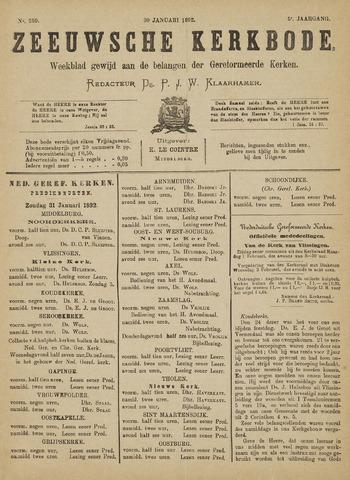Zeeuwsche kerkbode, weekblad gewijd aan de belangen der gereformeerde kerken/ Zeeuwsch kerkblad 1892-01-30
