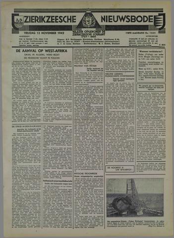 Zierikzeesche Nieuwsbode 1942-11-13