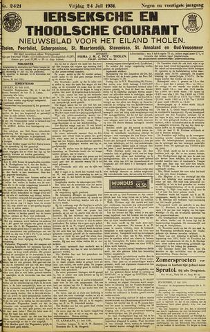 Ierseksche en Thoolsche Courant 1931-07-24