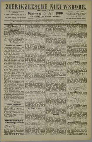 Zierikzeesche Nieuwsbode 1900-07-05