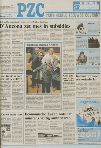 Provinciale Zeeuwse Courant 1993-07-15