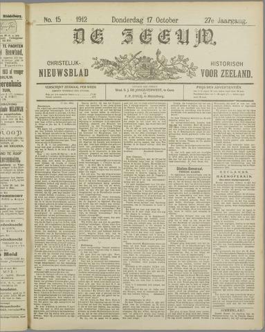 De Zeeuw. Christelijk-historisch nieuwsblad voor Zeeland 1912-10-17