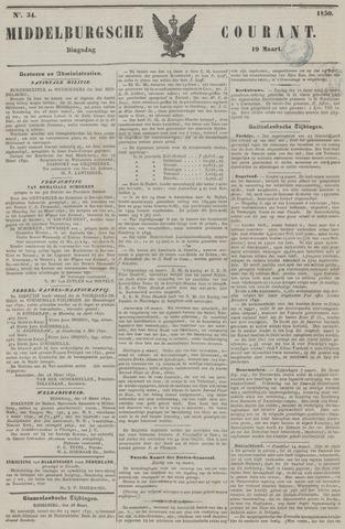 Middelburgsche Courant 1850-03-19
