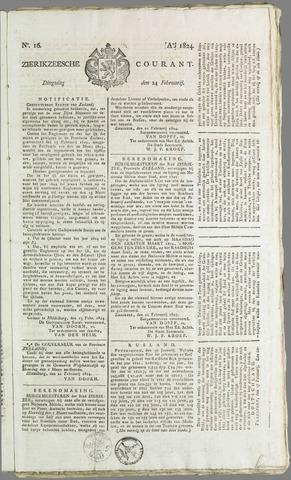 Zierikzeesche Courant 1824-02-24