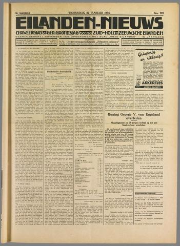 Eilanden-nieuws. Christelijk streekblad op gereformeerde grondslag 1936-01-22