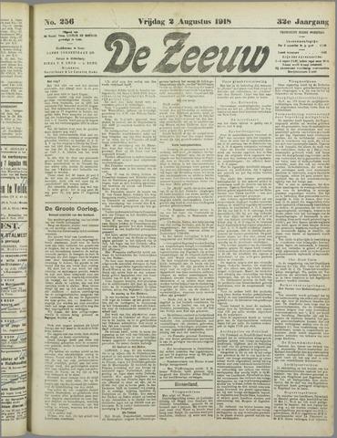 De Zeeuw. Christelijk-historisch nieuwsblad voor Zeeland 1918-08-02