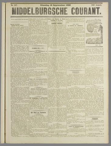 Middelburgsche Courant 1925-09-15