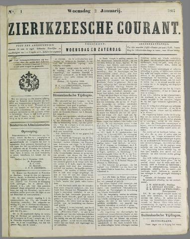 Zierikzeesche Courant 1867