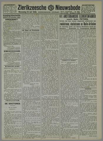 Zierikzeesche Nieuwsbode 1930-07-23