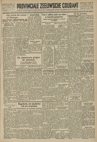 Provinciale Zeeuwse Courant 1946-04-11