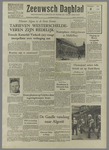 Zeeuwsch Dagblad 1958-06-04