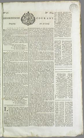Zierikzeesche Courant 1814-06-28