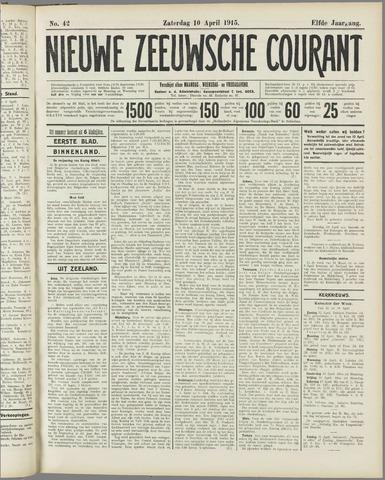 Nieuwe Zeeuwsche Courant 1915-04-10