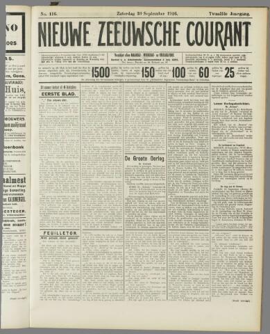 Nieuwe Zeeuwsche Courant 1916-09-30