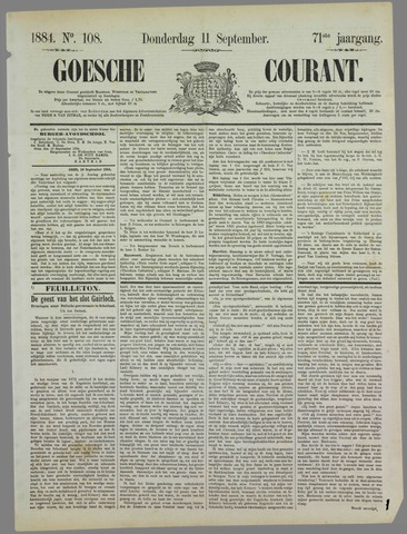Goessche Courant 1884-09-11
