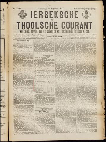 Ierseksche en Thoolsche Courant 1914-08-19