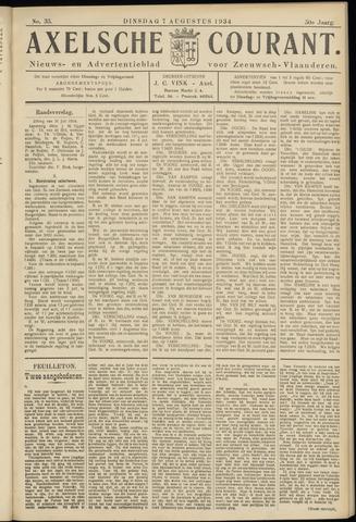 Axelsche Courant 1934-08-07