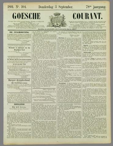 Goessche Courant 1891-09-03