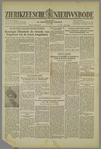 Zierikzeesche Nieuwsbode 1952-02-08
