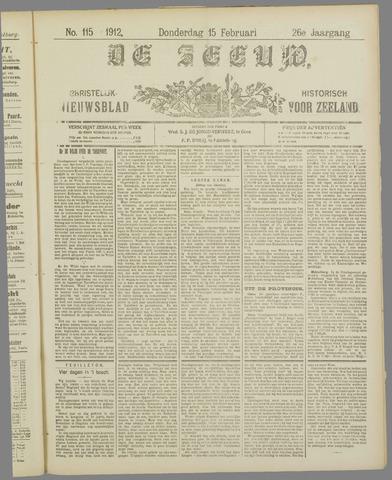 De Zeeuw. Christelijk-historisch nieuwsblad voor Zeeland 1912-02-15