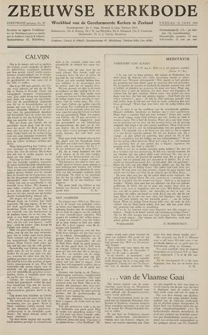 Zeeuwsche kerkbode, weekblad gewijd aan de belangen der gereformeerde kerken/ Zeeuwsch kerkblad 1959-06-12