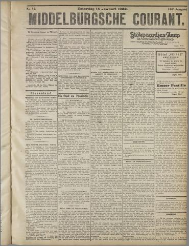 Middelburgsche Courant 1922-01-14