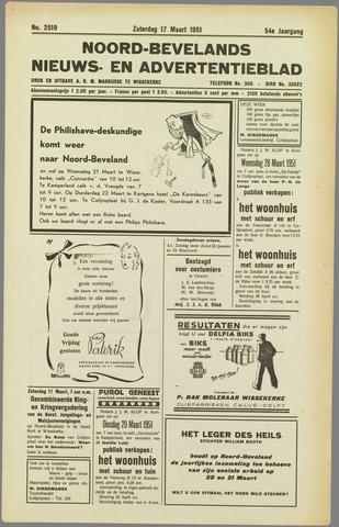 Noord-Bevelands Nieuws- en advertentieblad 1951-03-17