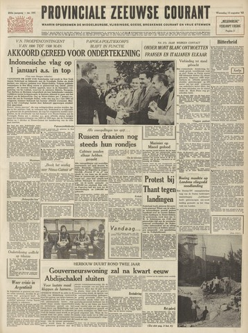 Provinciale Zeeuwse Courant 1962-08-15
