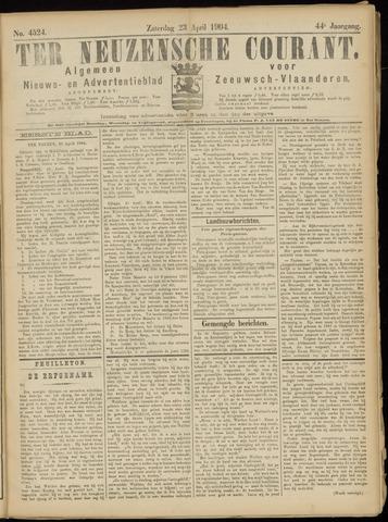 Ter Neuzensche Courant. Algemeen Nieuws- en Advertentieblad voor Zeeuwsch-Vlaanderen / Neuzensche Courant ... (idem) / (Algemeen) nieuws en advertentieblad voor Zeeuwsch-Vlaanderen 1904-04-23
