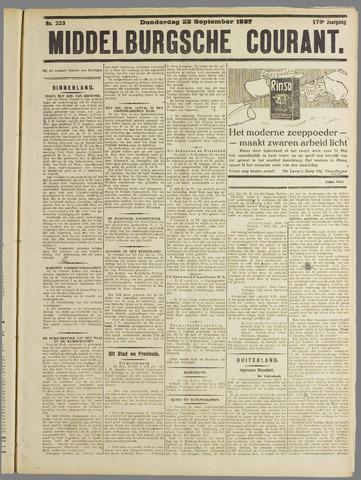 Middelburgsche Courant 1927-09-22