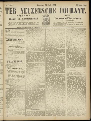 Ter Neuzensche Courant. Algemeen Nieuws- en Advertentieblad voor Zeeuwsch-Vlaanderen / Neuzensche Courant ... (idem) / (Algemeen) nieuws en advertentieblad voor Zeeuwsch-Vlaanderen 1893-06-24