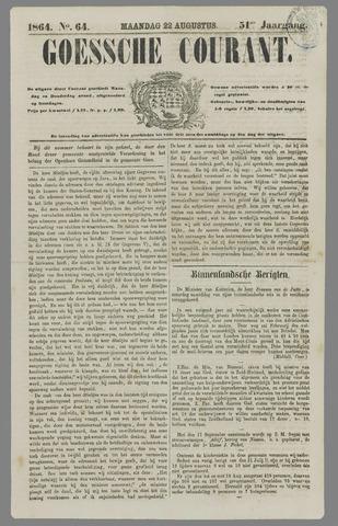 Goessche Courant 1864-08-22