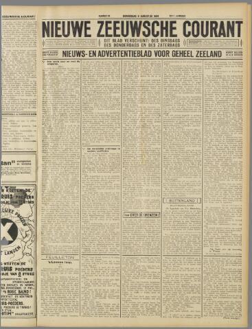 Nieuwe Zeeuwsche Courant 1934-08-09