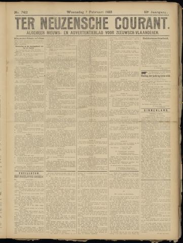 Ter Neuzensche Courant. Algemeen Nieuws- en Advertentieblad voor Zeeuwsch-Vlaanderen / Neuzensche Courant ... (idem) / (Algemeen) nieuws en advertentieblad voor Zeeuwsch-Vlaanderen 1923-02-07