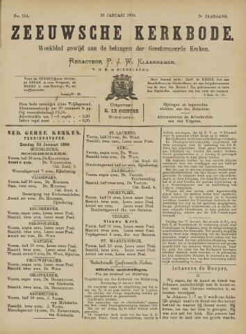 Zeeuwsche kerkbode, weekblad gewijd aan de belangen der gereformeerde kerken/ Zeeuwsch kerkblad 1890-01-25