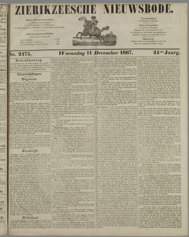 Zierikzeesche Nieuwsbode 1867-12-11