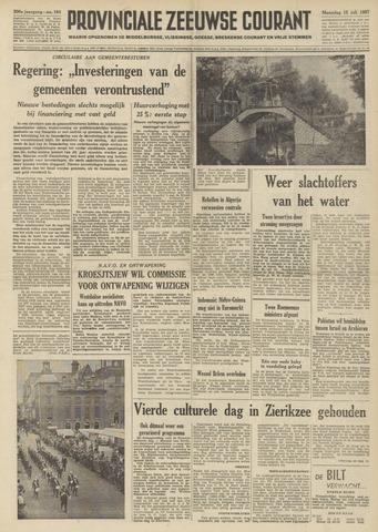 Provinciale Zeeuwse Courant 1957-07-15